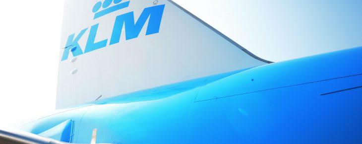 KLM B777 tail