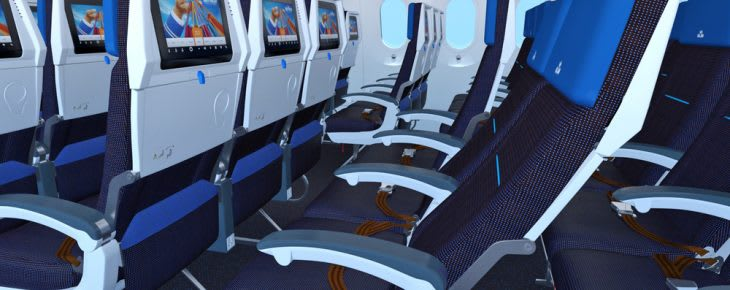 KLM Economy cabin