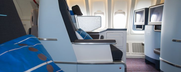 Business class seat KLM
