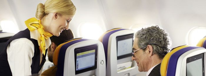 Business traveller in Economy Class