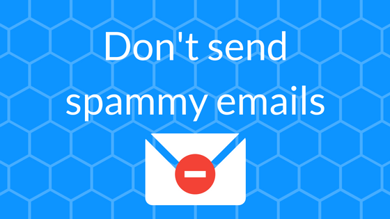 email lists spammy emails