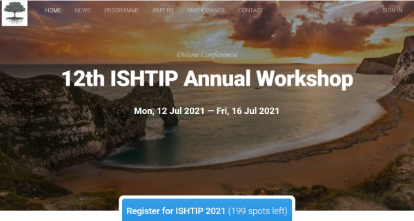 Welcome to the 12th edition of the ISHTIP workshop!