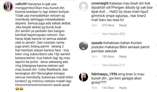 %name Ria Ricis Justru Makin Dihujat Warganet, Gegara Pangkuanya Mau bunuh diri