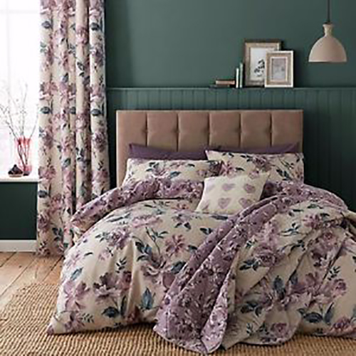 Catherine Lansfield Painted Floral Duvet Set and Accessories
