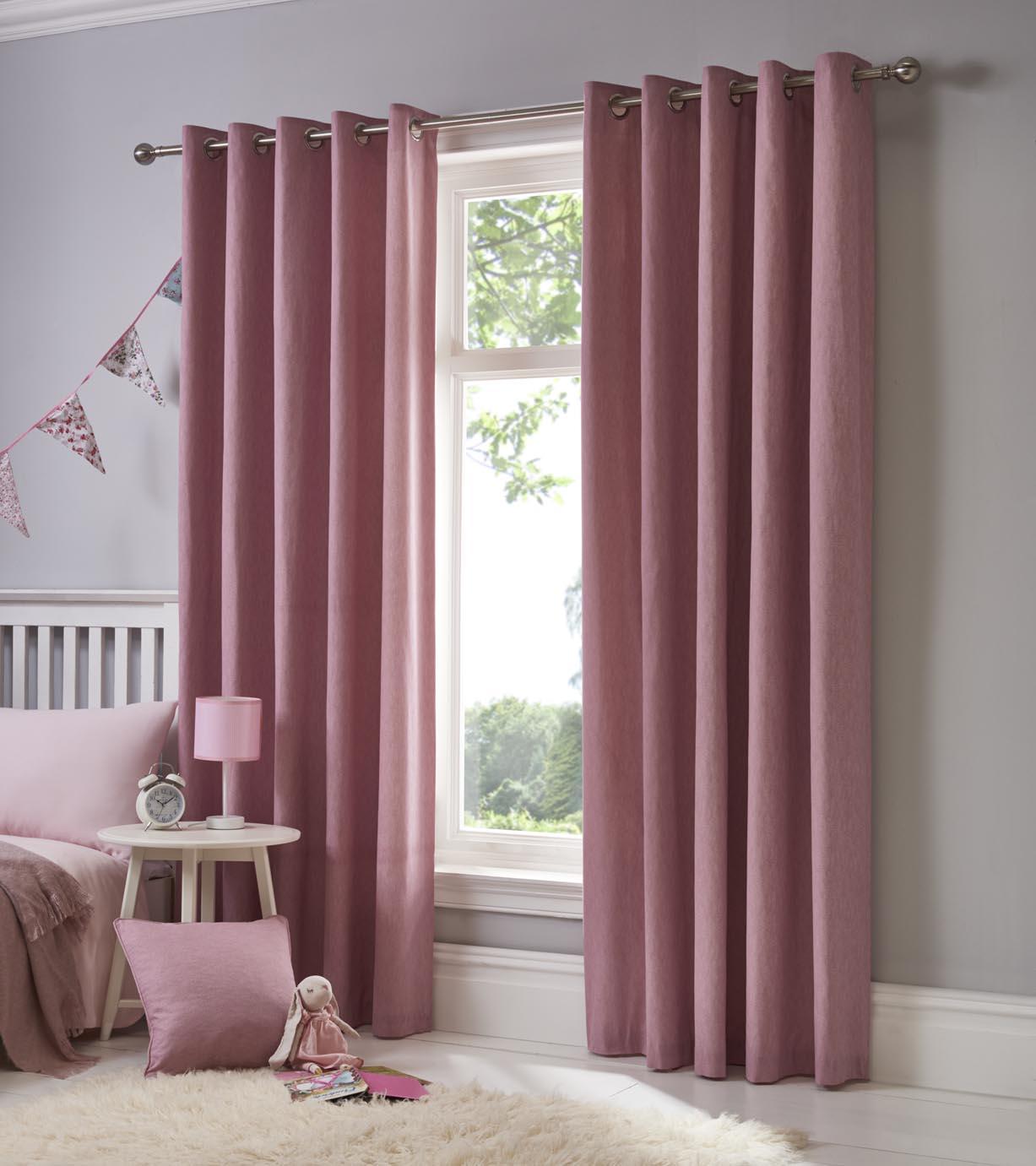 Sorbonne Eyelet Plain Curtains