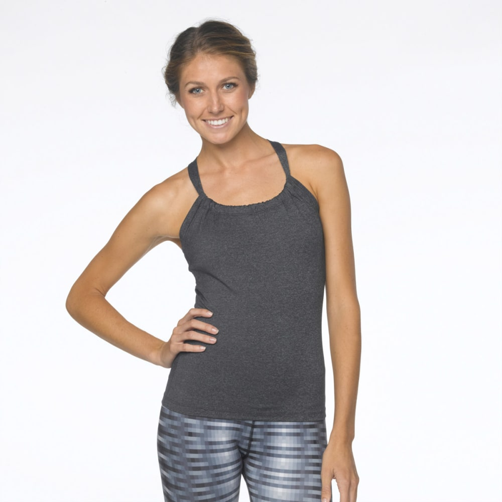 PRANA Women's Quinn Chakara Top - CHARCOAL HEATHER