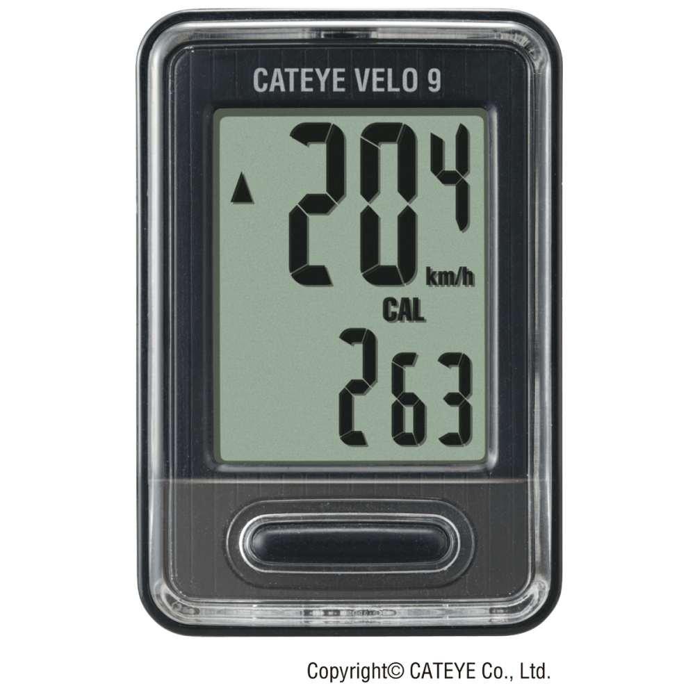 Cateye Velo 9 Cycling Computer - BLACK