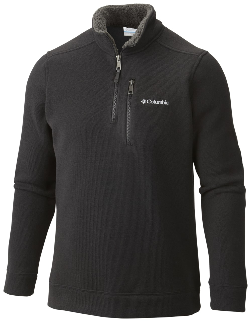 COLUMBIA Men's Terpin Point II Half Zip - BLACK HTR-010