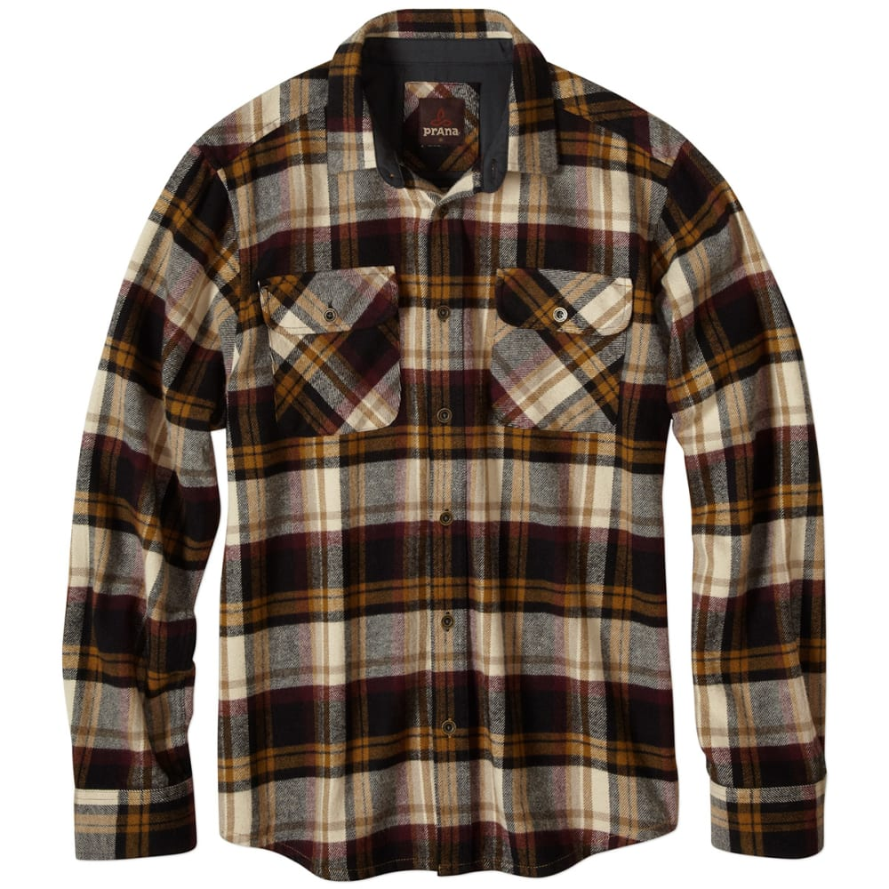 PRANA Men's Lybeck Flannel - BLACK