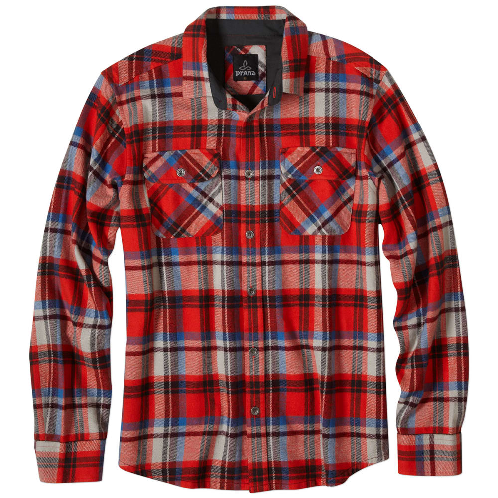 PRANA Men's Lybeck Flannel - FIREBALL