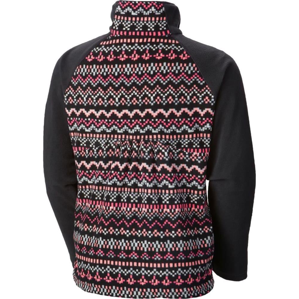 COLUMBIA Girls' Glacial II Fleece Printed Half-Zip - BLACK