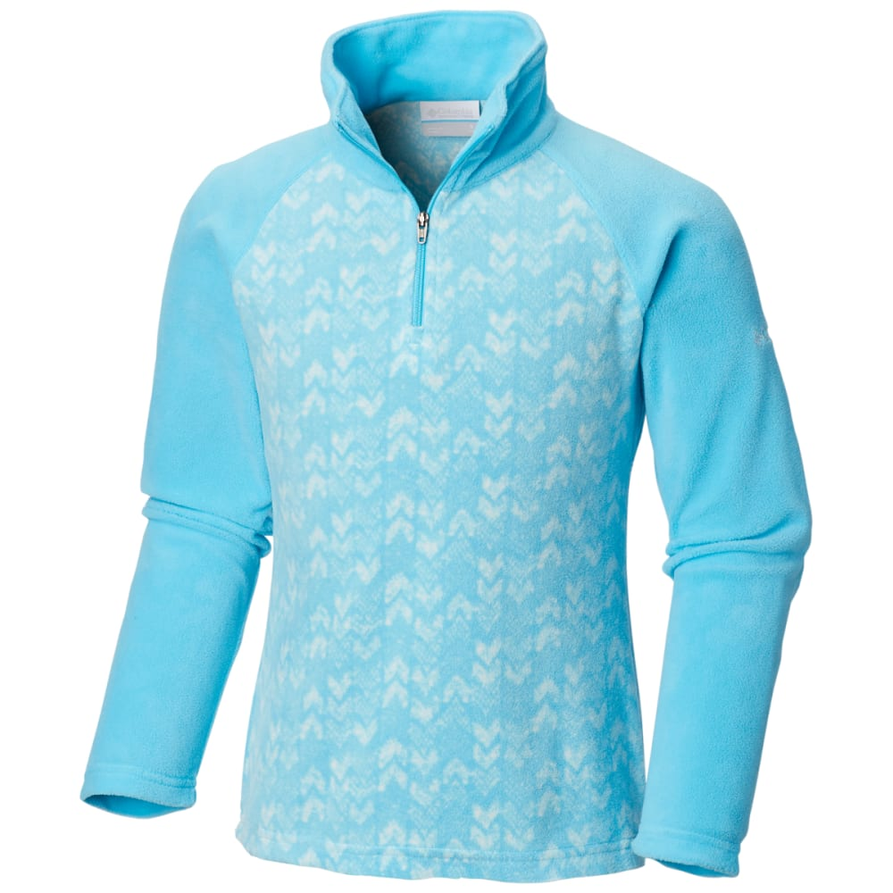COLUMBIA Girls' Glacial II Fleece Printed Half-Zip L