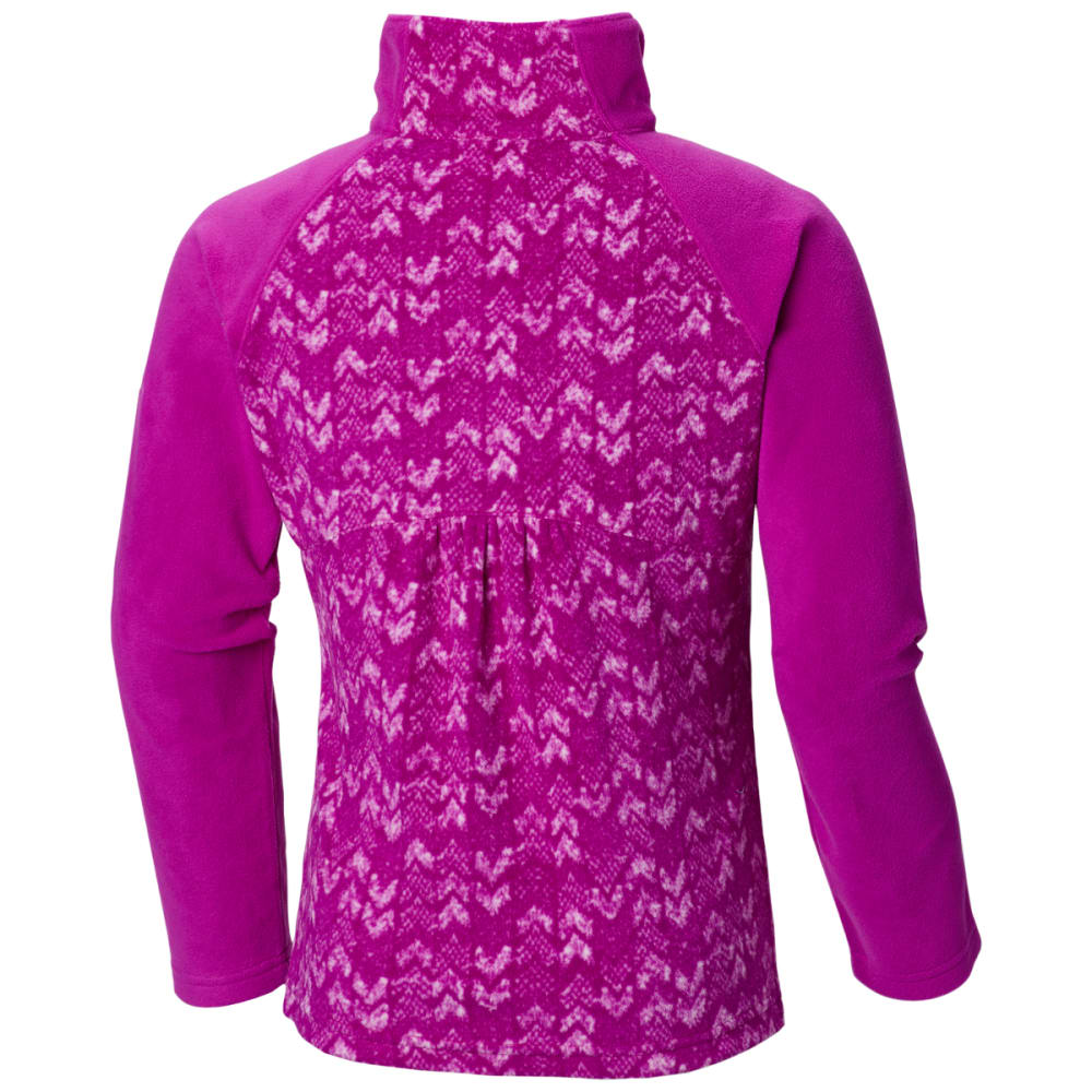 COLUMBIA Girls' Glacial II Fleece Printed Half-Zip - BRIGHT PLUM PR -532