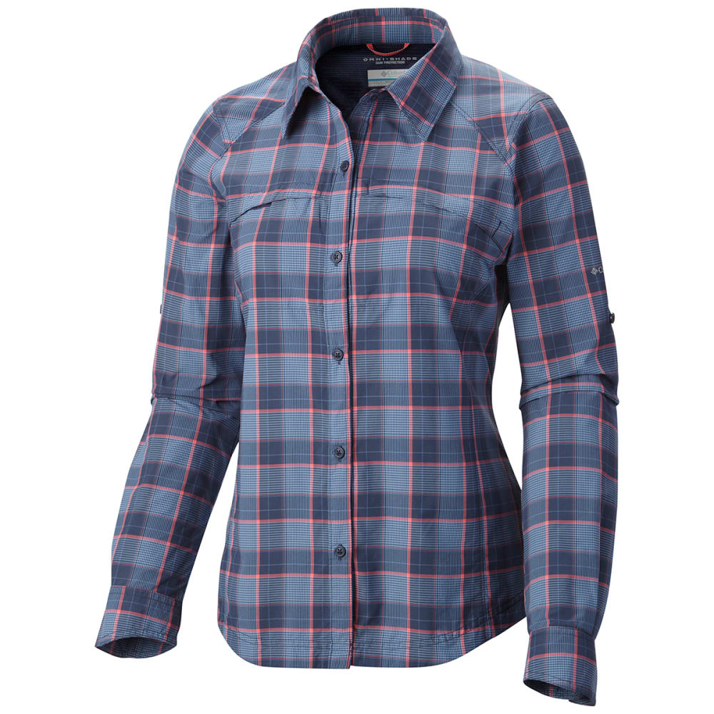 COLUMBIA Women's Silver Ridge™ Plaid Long-Sleeve Shirt - NOCTURNAL PLAID