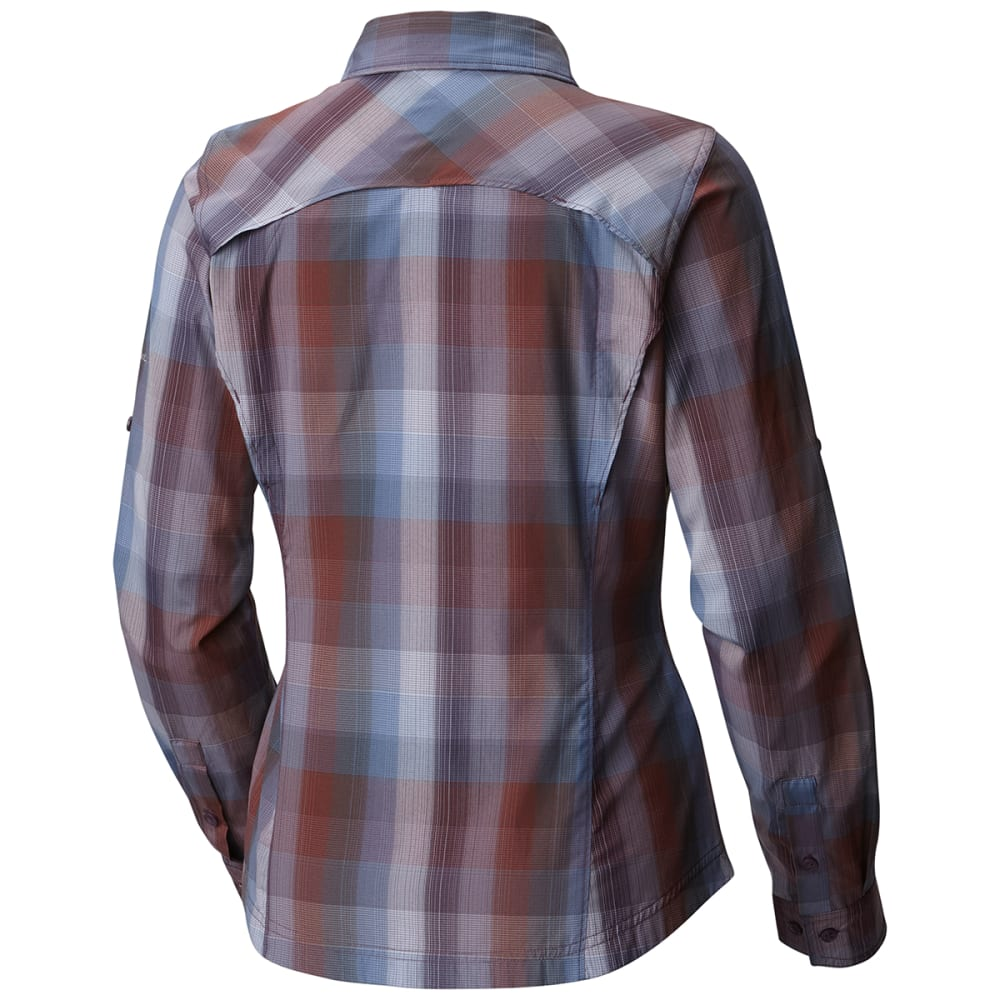 COLUMBIA Women's Silver Ridge™ Plaid Long-Sleeve Shirt - 503-DUSTY PURPLE OMB