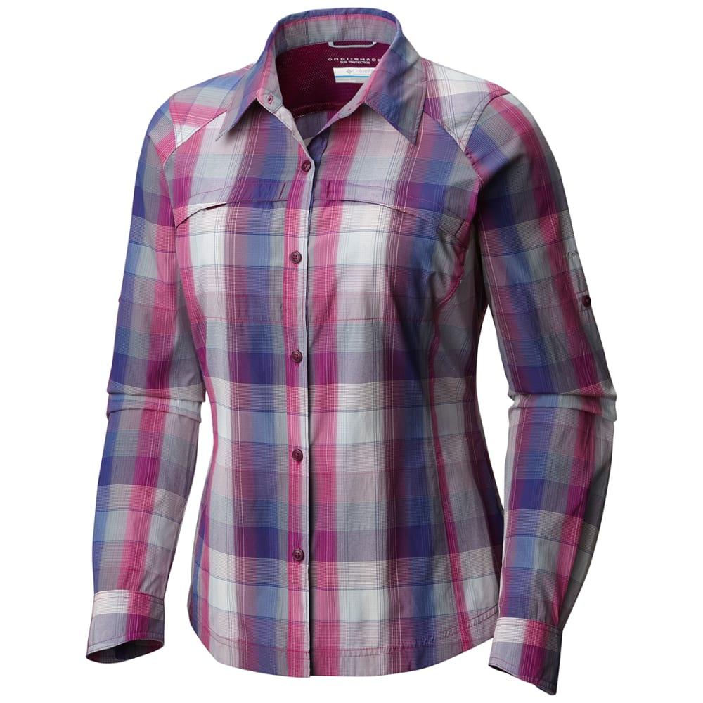 COLUMBIA Women's Silver Ridge Plaid Long-Sleeve Shirt XS