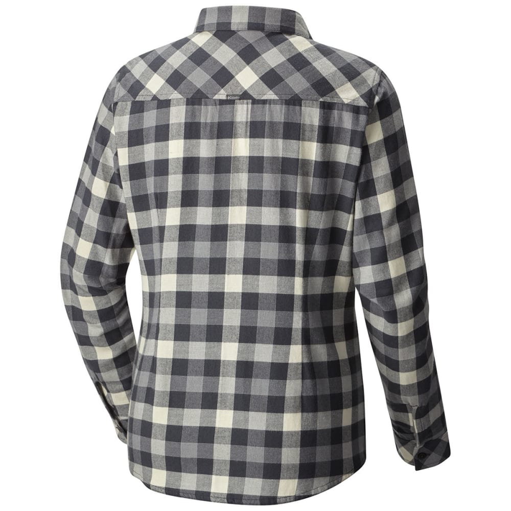 COLUMBIA Women's Simply Put II Flannel Shirt - 014-SHARK CHECK