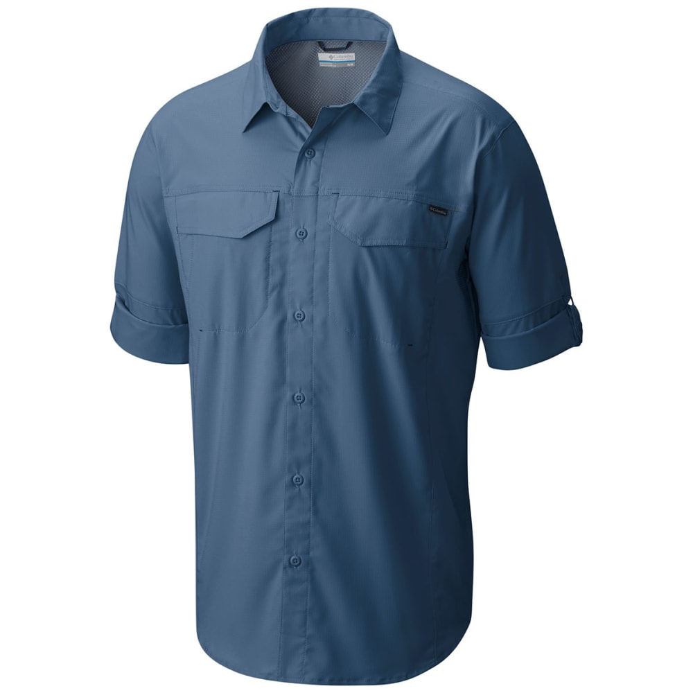 COLUMBIA Men's Silver Ridge Lite Long-Sleeve Trail Shirt - 413-STEEL