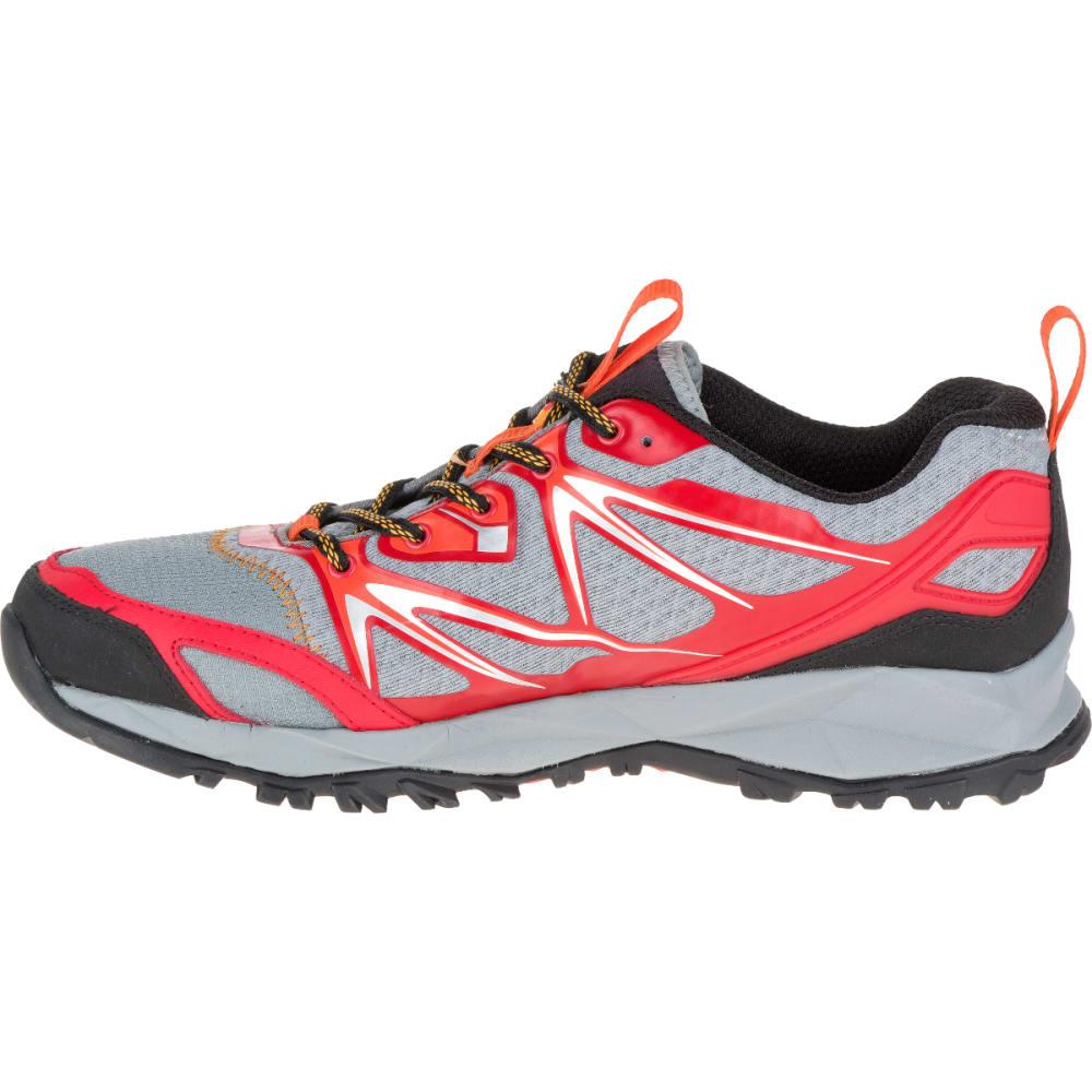 MERRELL Men's Capra Bolt Hiking Shoes, Bright Red - GRAY