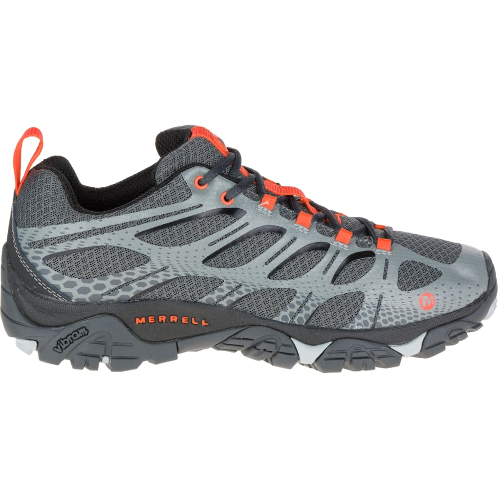 MERRELL Men's Moab Edge Sneaker, Grey - GRAY