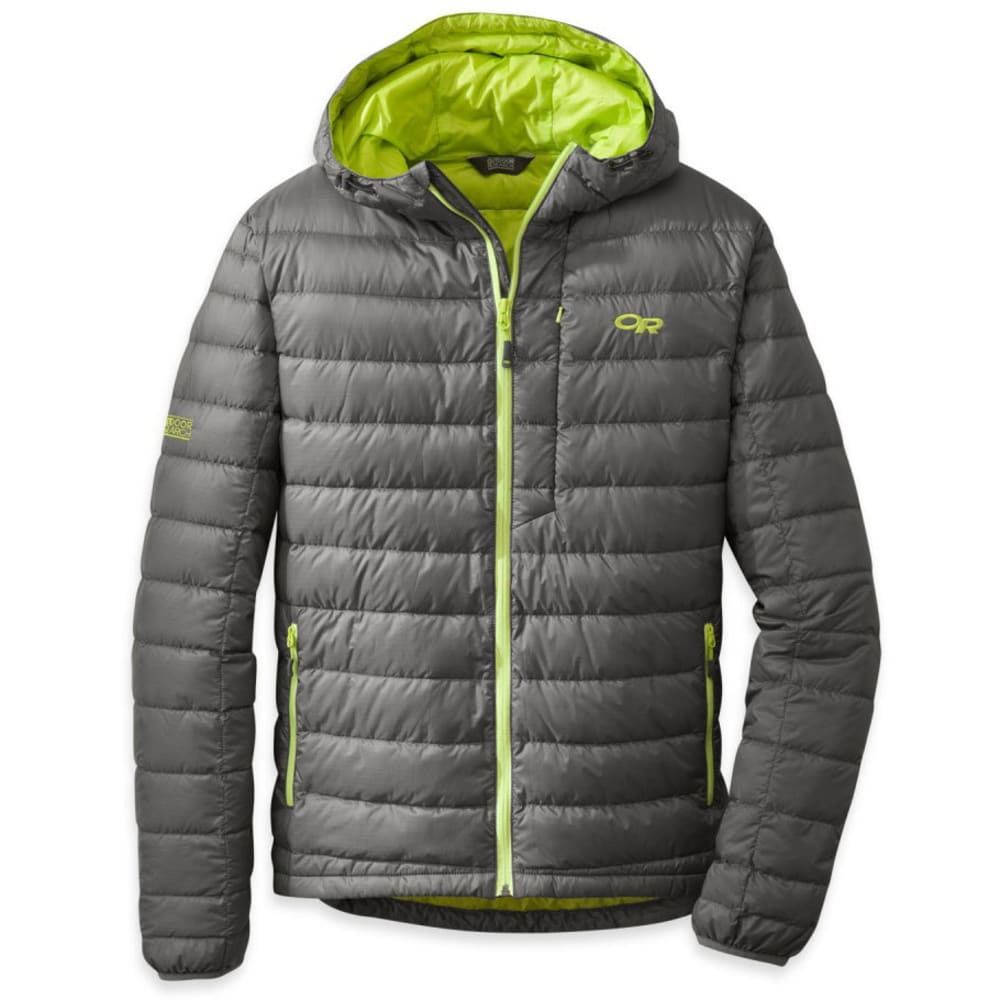 OUTDOOR RESEARCH Men's Transcendent Down Hoody - PEWTER