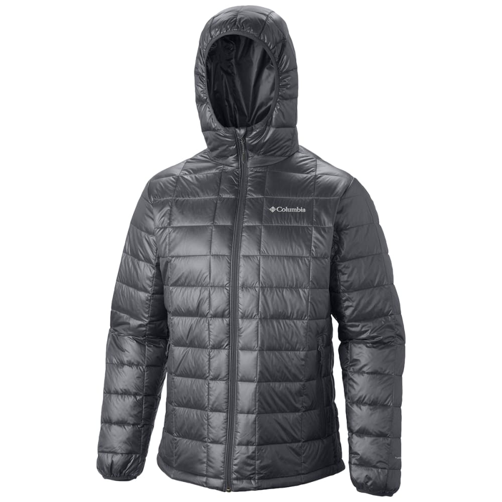 COLUMBIA Men's Trask Mountain 650 Turbodown™ Hooded Jacket - GRAPHITE