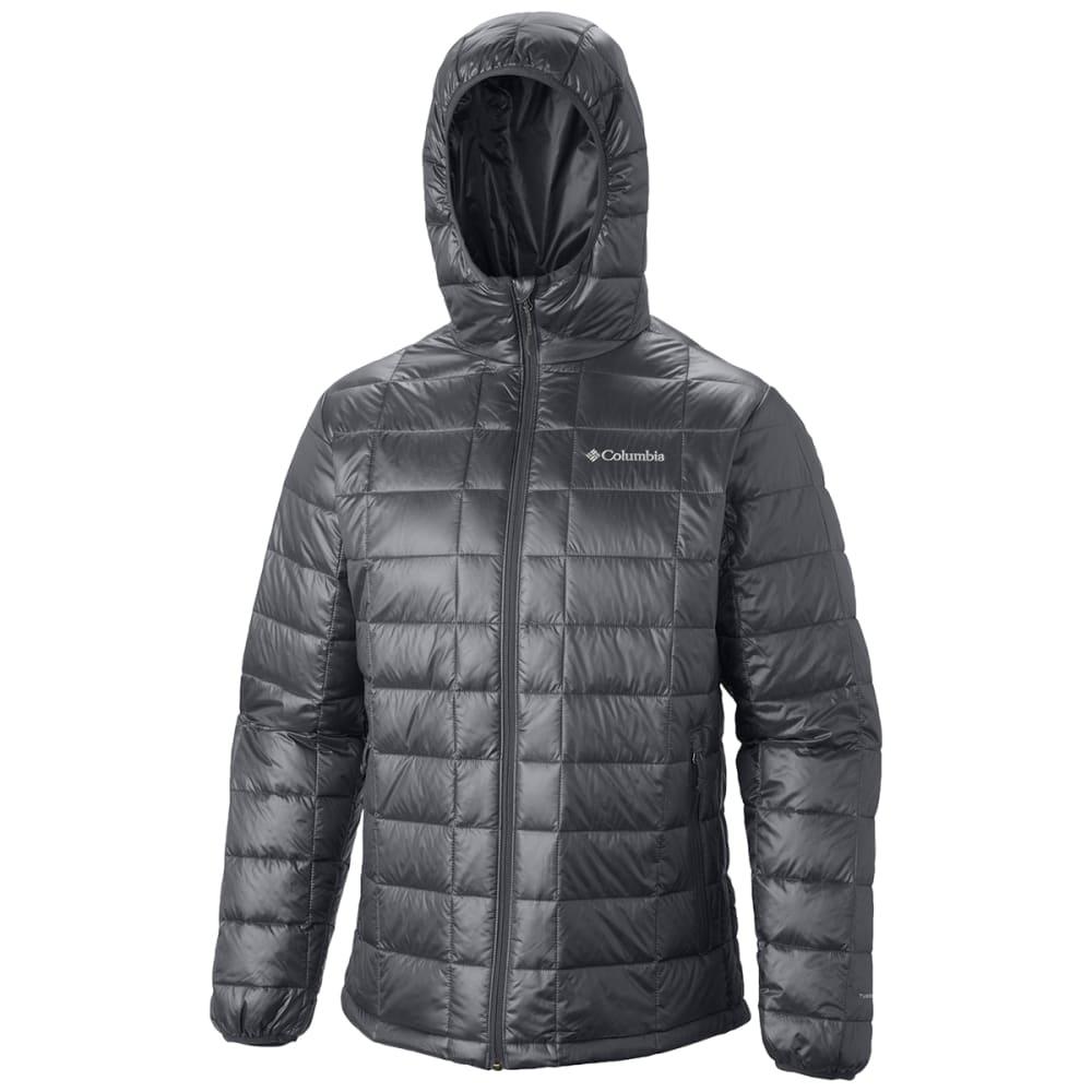 COLUMBIA Men's Trask Mountain 650 Turbodown™ Hooded Jacket - GRAPHITE