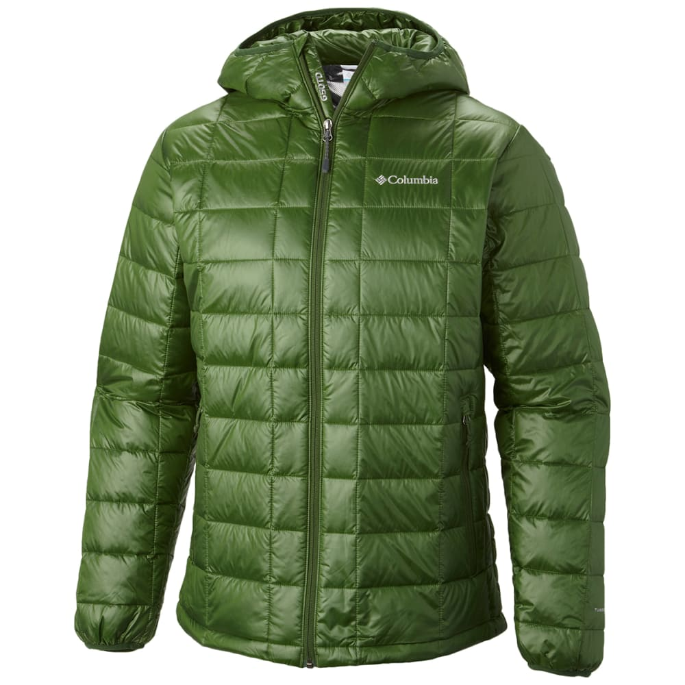 COLUMBIA Men's Trask Mountain 650 Turbodown™ Hooded Jacket - WOODLAND