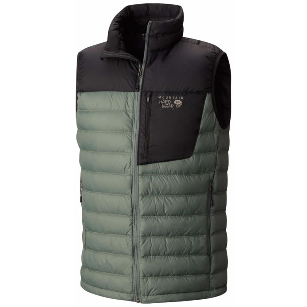 MOUNTAIN HARDWEAR Men's Dynotherm Down Vest - 967-THUNDERHEAD GRY