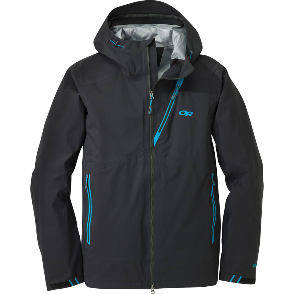 OUTDOOR RESEARCH Men's Axiom Jacket - BLACK/HYDRO