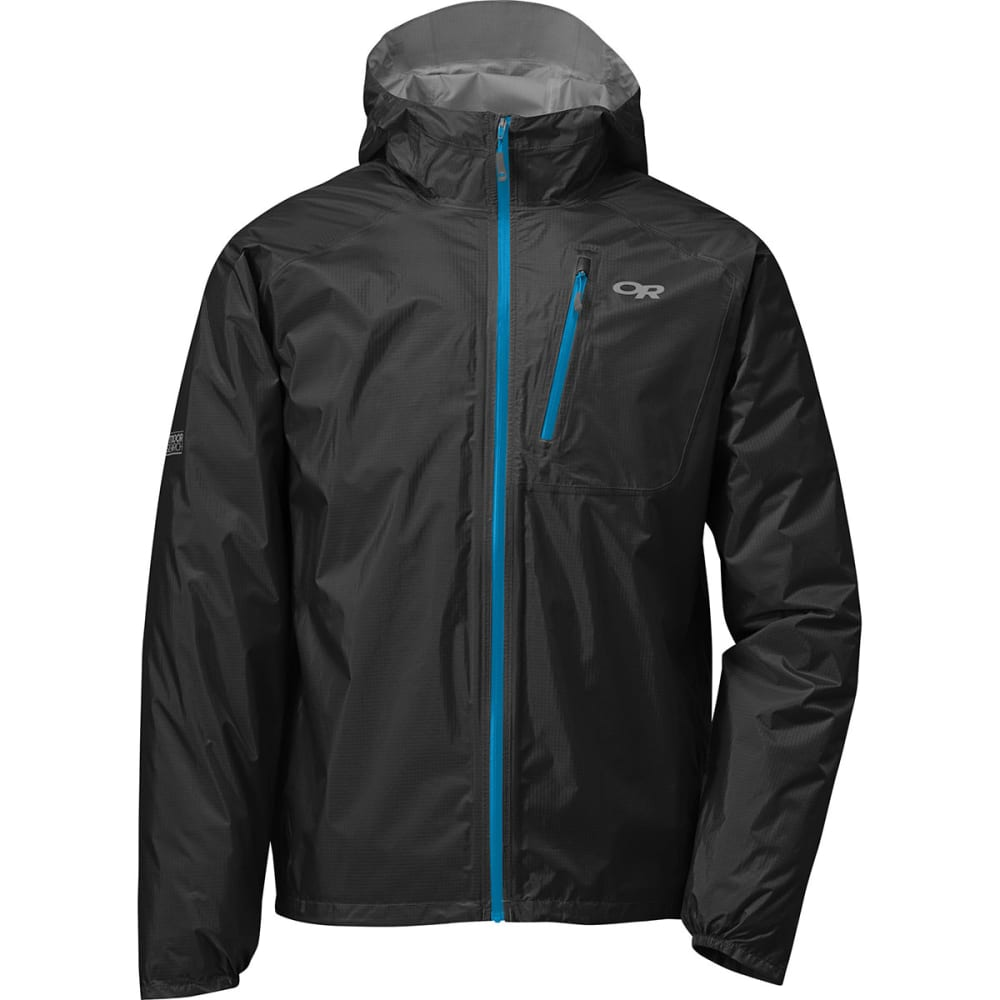 OUTDOOR RESEARCH Men's Helium II Jacket - BLACK/HYDRO