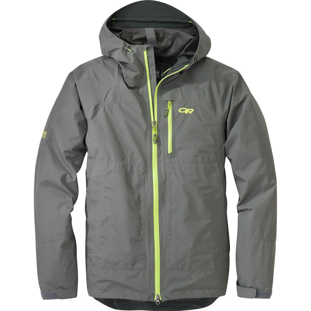 OUTDOOR RESEARCH Men's Foray Jacket - PEWTER/LEMONGRASS