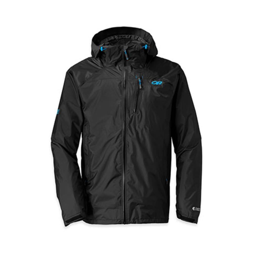 OUTDOOR RESEARCH Men's Helium HD Jacket - BLACK/BLUE