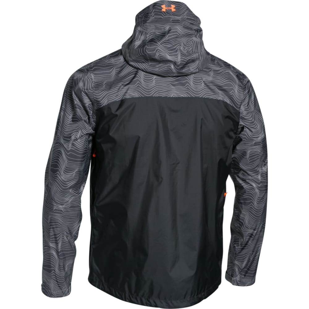 UNDER ARMOUR Men's Storm Surge Waterproof Jacket - AMALGAM GRAY/ BETA O