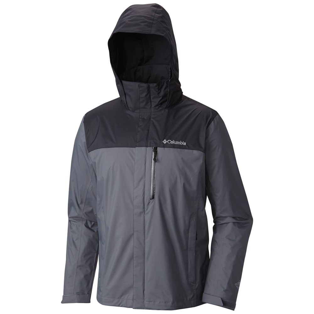 COLUMBIA Men's Pouration Jacket - 053-GRAPHITE/BLACK