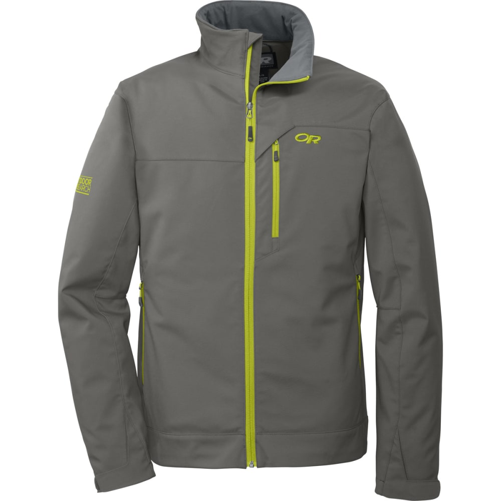 OUTDOOR RESEARCH Men's Transfer Jacket - PEWTER/LEMONGRASS