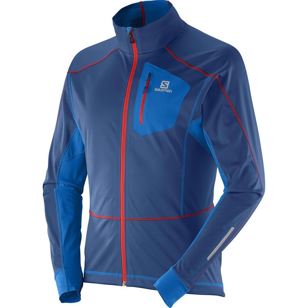 SALOMON Men's Equipe Softshell Jacket - BLUE