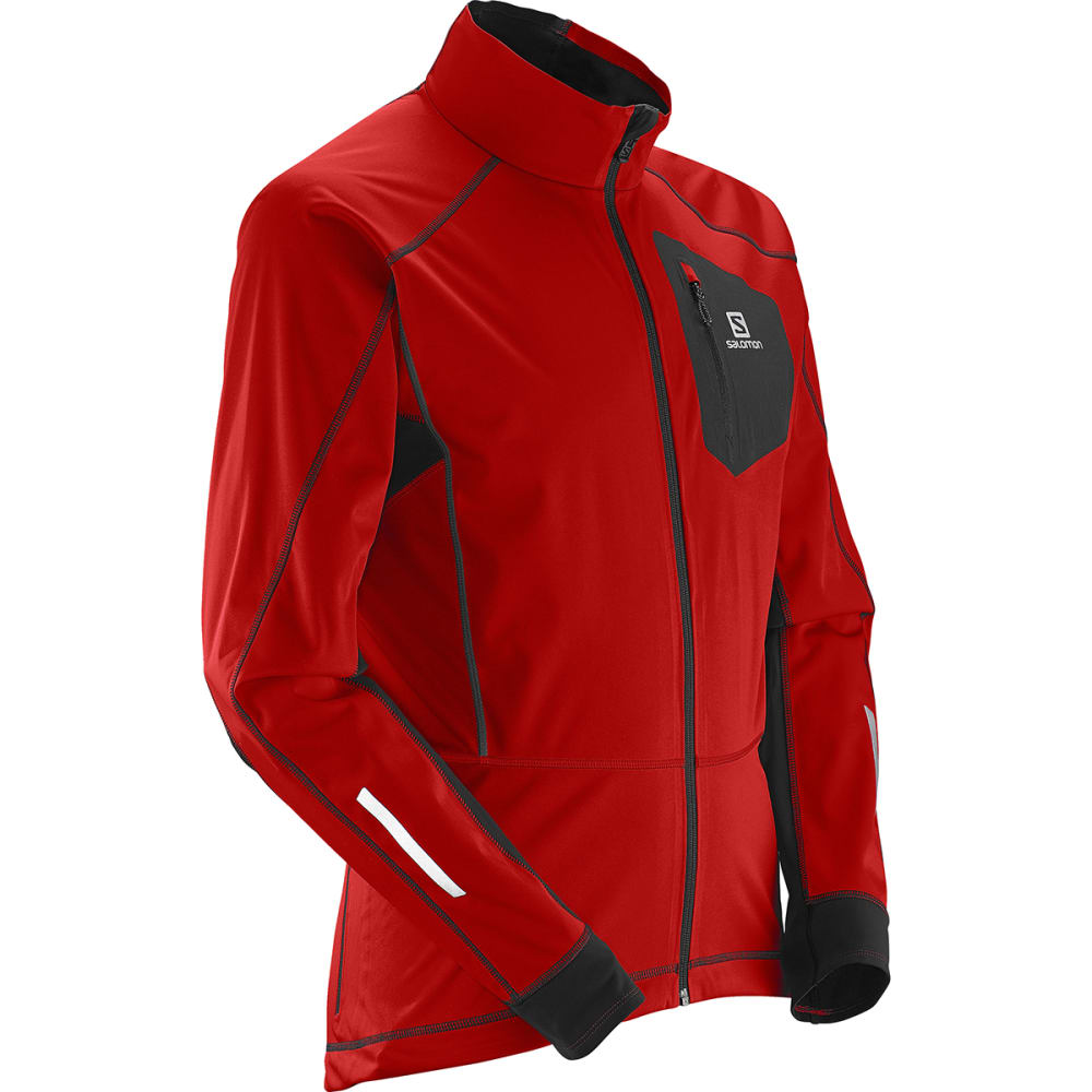 SALOMON Men's Equipe Softshell Jacket - MATADOR-X/BLACK