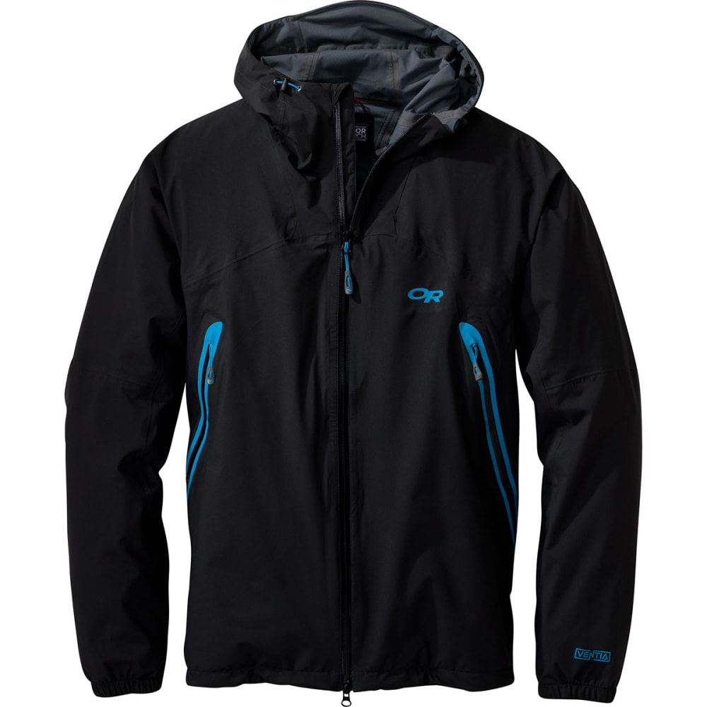 OUTDOOR RESEARCH Men's Allout Hooded Jacket - BLACK