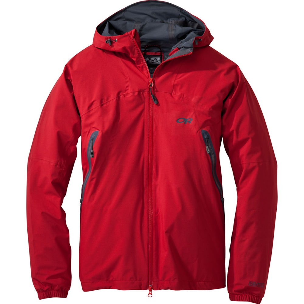OUTDOOR RESEARCH Men's Allout Hooded Jacket - HOT SAUCE