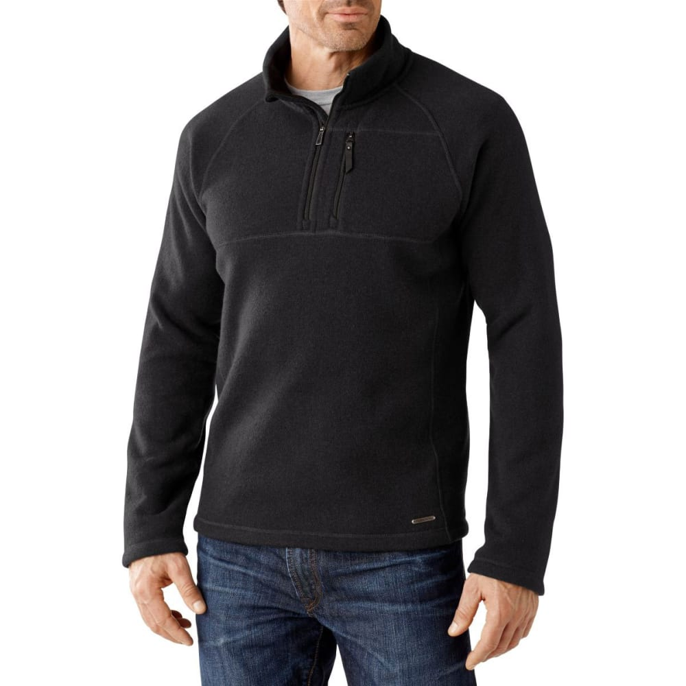 SMART WOOL Men's Echo Lake ½ Zip Sweater - CHARCOAL HEATHER