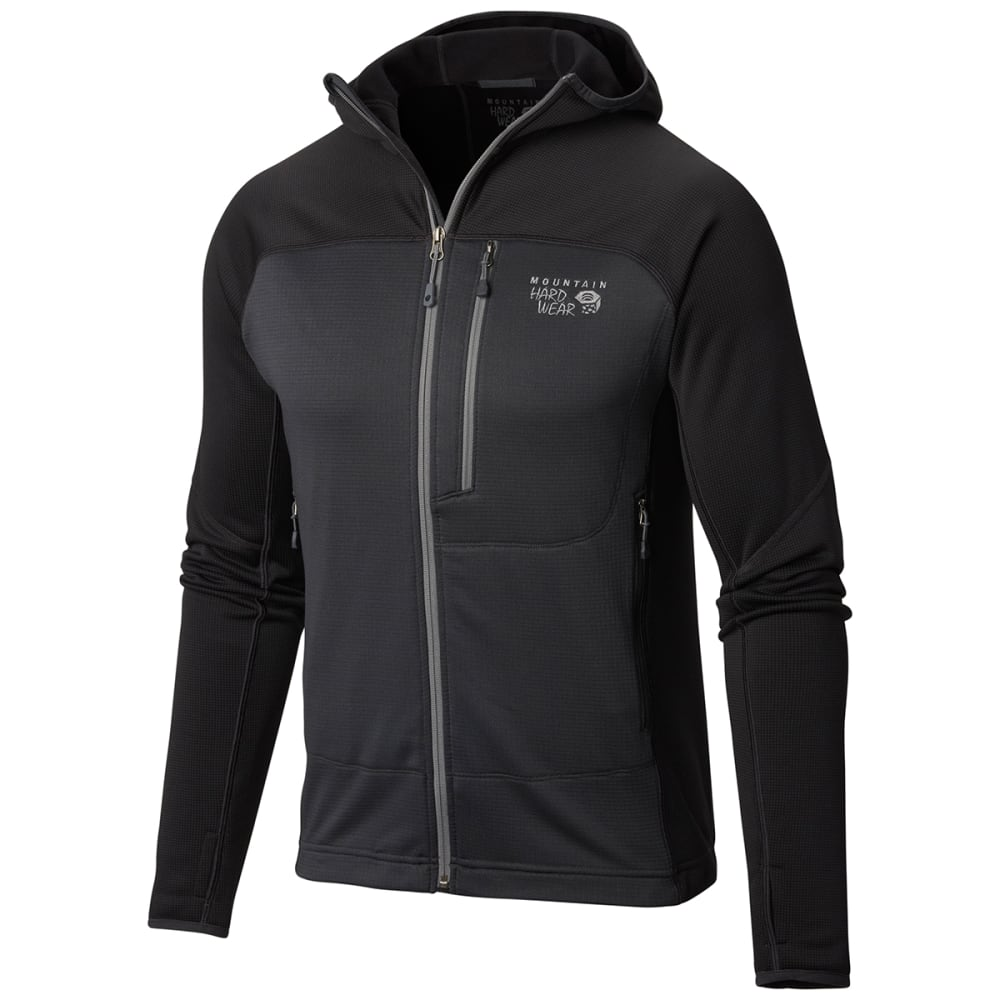 MOUNTAIN HARDWEAR Men's Desna Grid Hooded Jacket - SHARK
