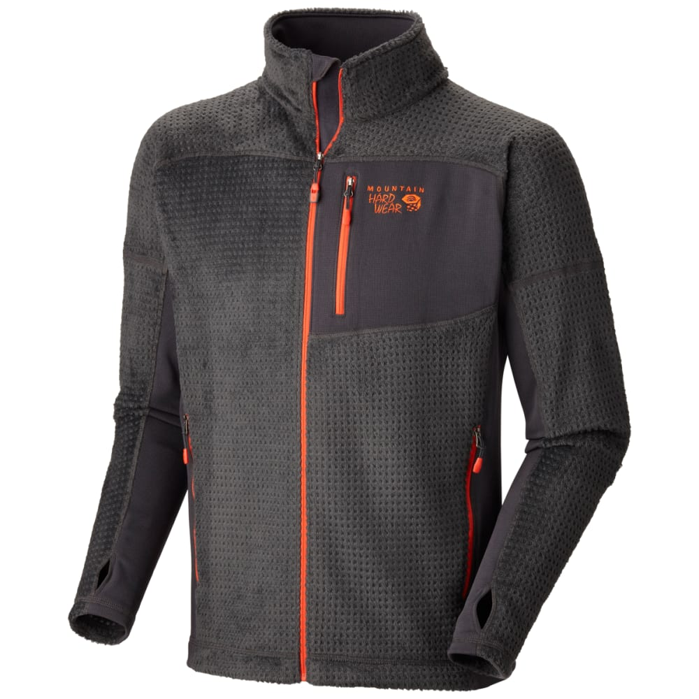 MOUNTAIN HARDWEAR Men's Hoodless Monkey Grid Jacket - SHARK