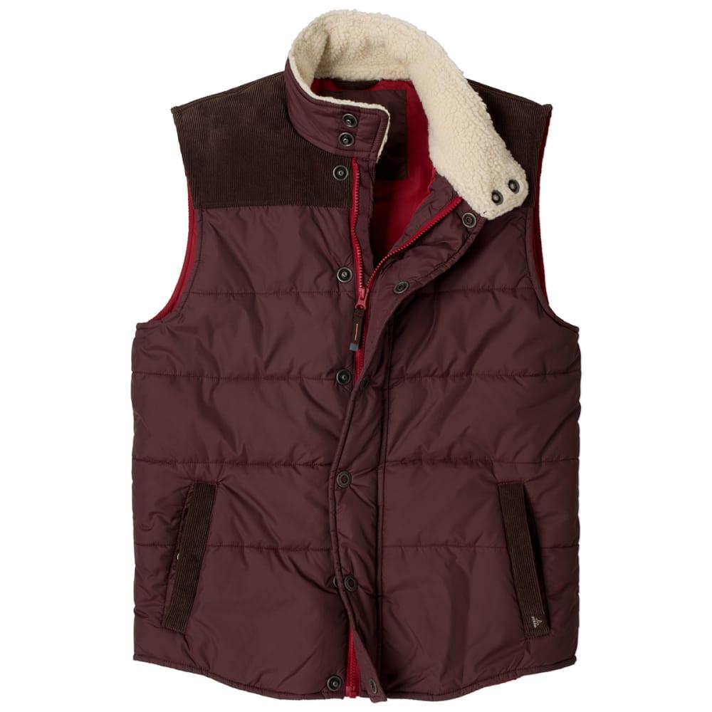 PRANA Men's Waylen Vest, Mahogany - MAHOGANY