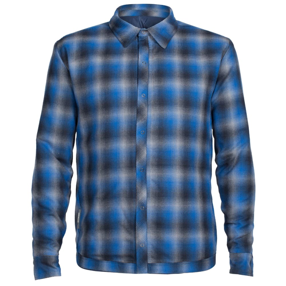 ICEBREAKER Men's Helix Long Sleeve Reversible Shirt - ADMIRAL/FOSSIL/PELRS