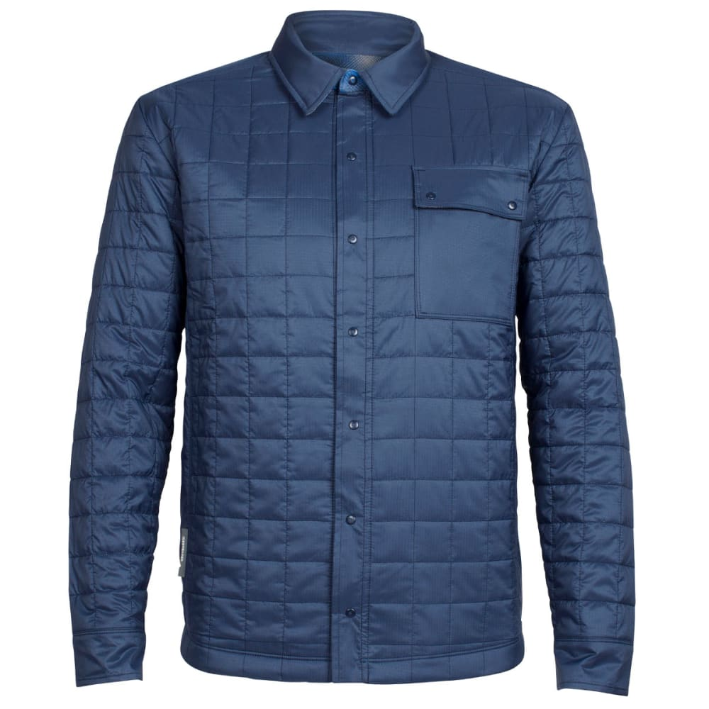 ICEBREAKER Men's Helix Long Sleeve Reversible Shirt - ADMIRAL/FOSSIL/PELRS