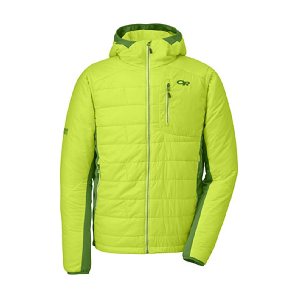 OUTDOOR RESEARCH Men's Halogen Hoodie - LEMONGRASS/LEAF