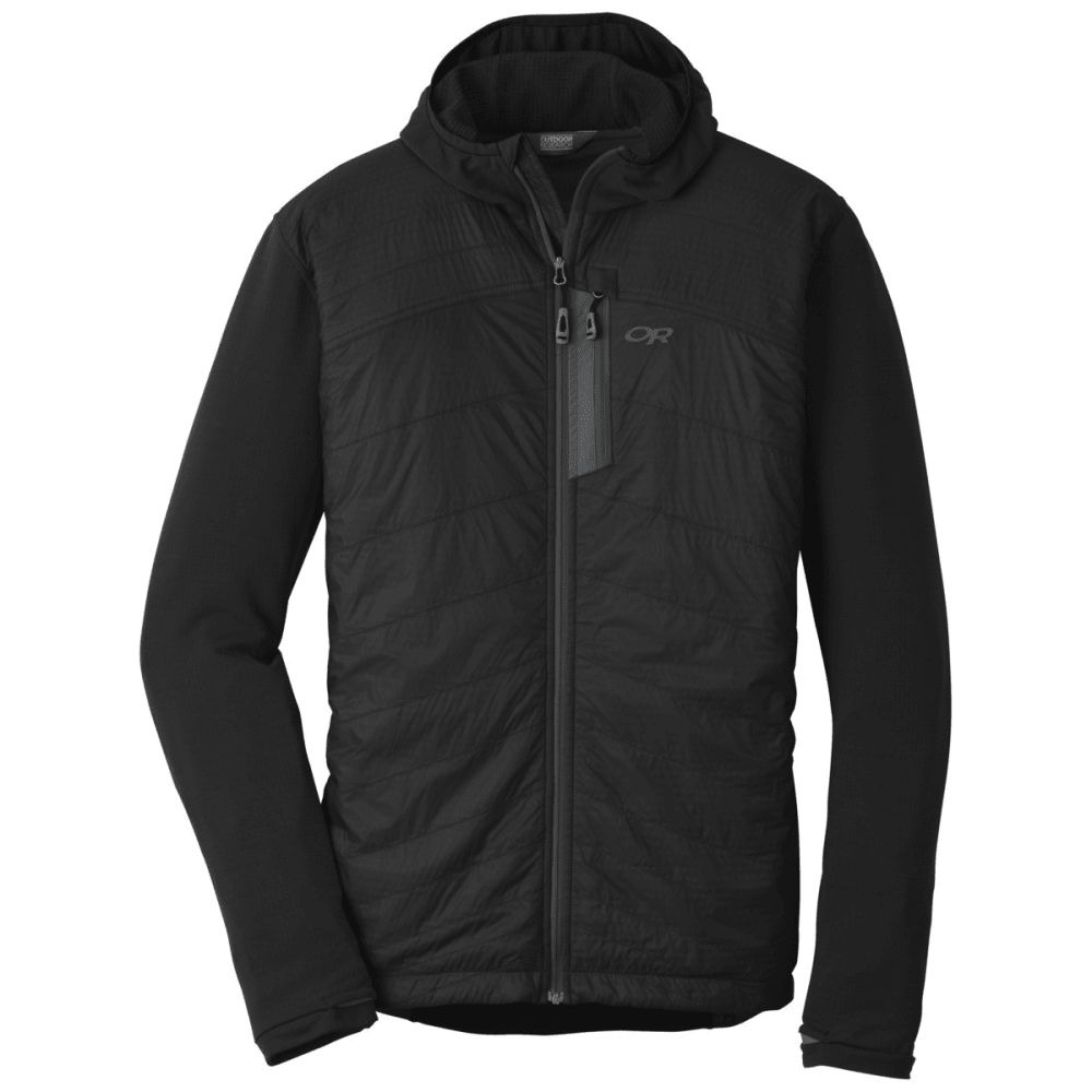 OUTDOOR RESEARCH Men's Deviator Hoodie - 0189 BLACK/CHARCOAL