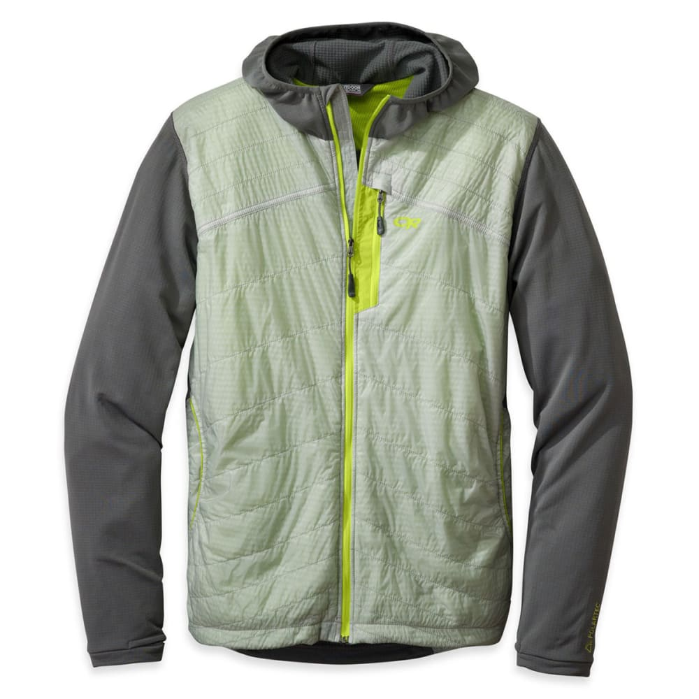OUTDOOR RESEARCH Men's Deviator Hoodie - 0053-ALLOY PEWTER