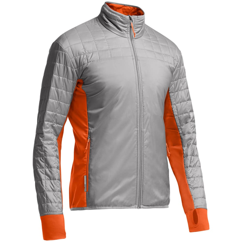 ICEBREAKER Men's MerinoLoft Helix Zip Jacket - FOSSIL/ SPARK/ SPARK